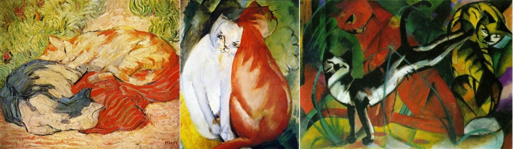 Increasingly abstract cats in the art of Franz Marc, 1909-1913