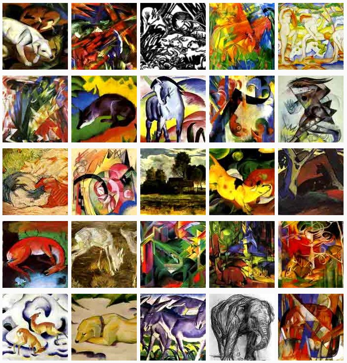Selection of Franz Marc paintings