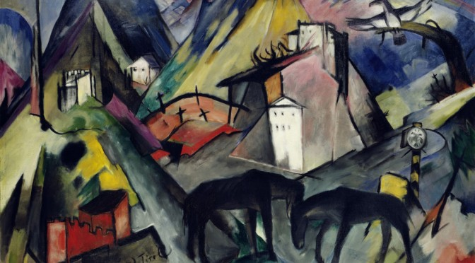 Das arme Land Tirol, The Unfortunate Land of Tyrol, Franz Marc, 1913