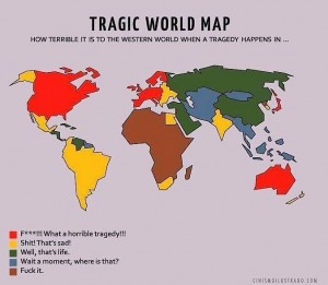 Tragedy World Map - Mapamundi Tragico, Eduardo Salles