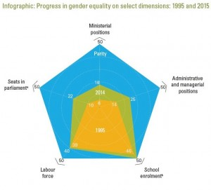 UNDP Infographic Progress in gender equality
