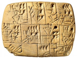 Uruk Cuneiform Clay Tablet, 3000 BC, Beer Allocation