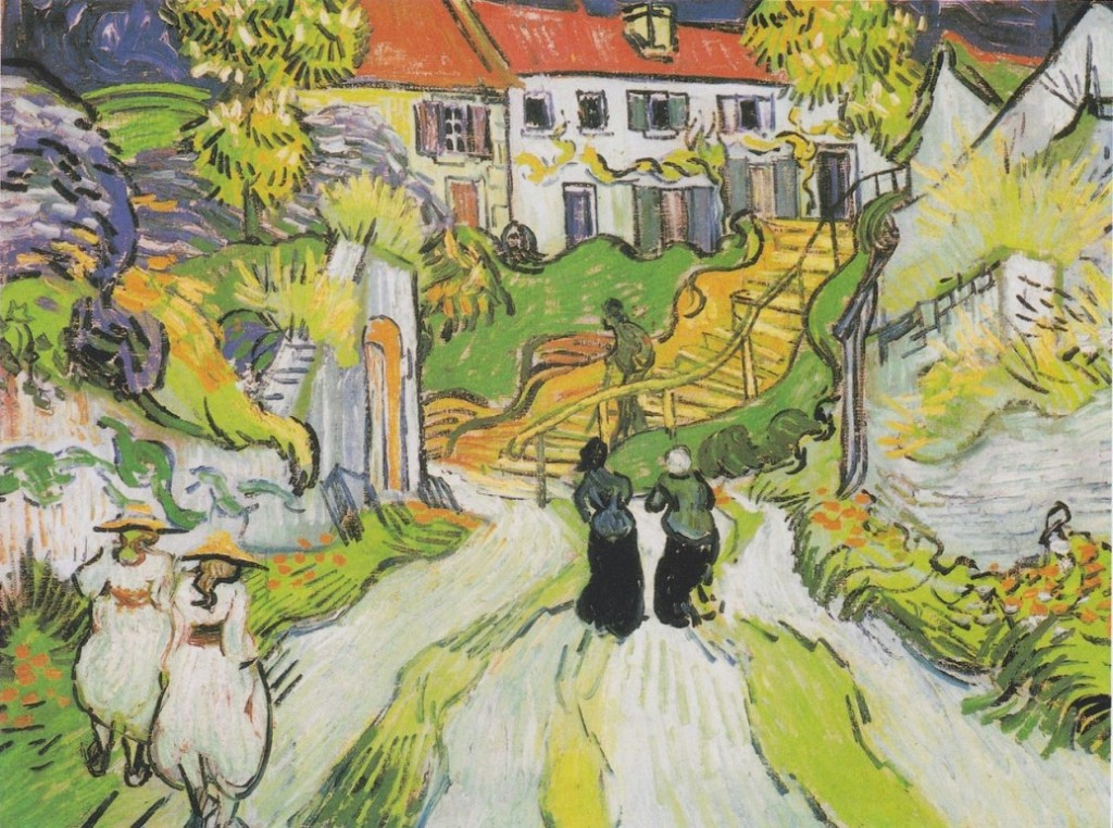 Vincent van Gogh Village Street and Steps in Auvers