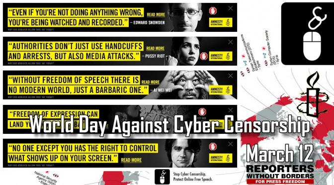 No AdBlock isn't broken it's Amnesty's World Day Against Cyber Censorship
