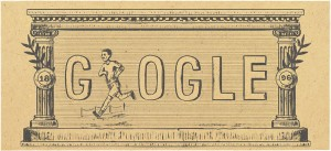 Google Doodle 120th anniversary of first modern olympic games