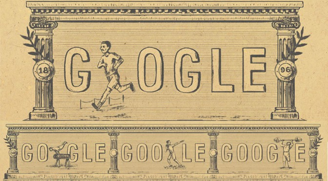 Google Doodles 120th anniversary of first modern olympic games