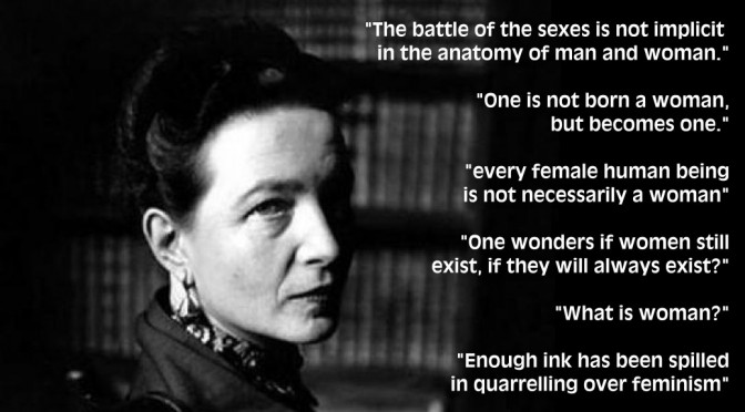 Simone de Beauvoir quotes on woman and feminism