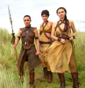 Dorne women Sand Snakes Obara Sand, Tyene Sand and Nymeria Sand
