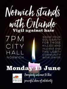 Norwich Stands with Orlando, Vigil Against Hate, 13 June 2016