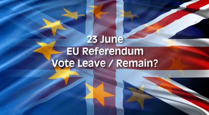 UK EU Referendum Vote Leave or Remain