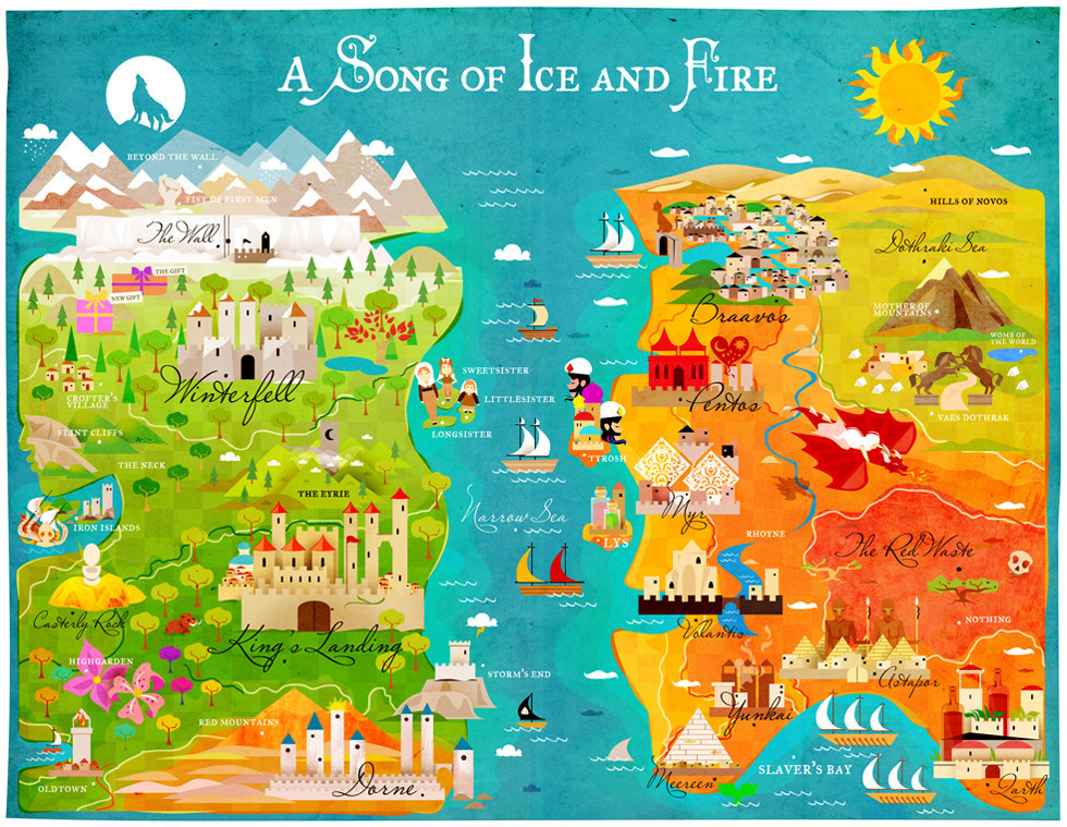 Westeros and Essos, Game of Thrones map by KitKat Pecson kitkatpecson