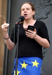 Katy Jon Went speaking at pro-EU anti-Brexit rally in Norwich