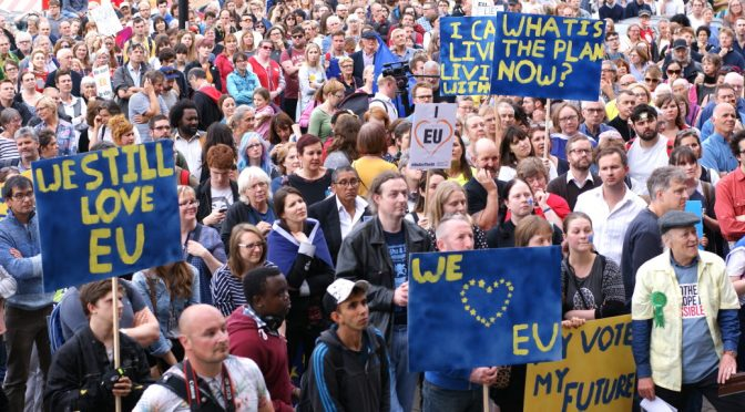 Democracy, Diversity & anti-Hate Speech, Norwich Stays pro-EU Brexit rally
