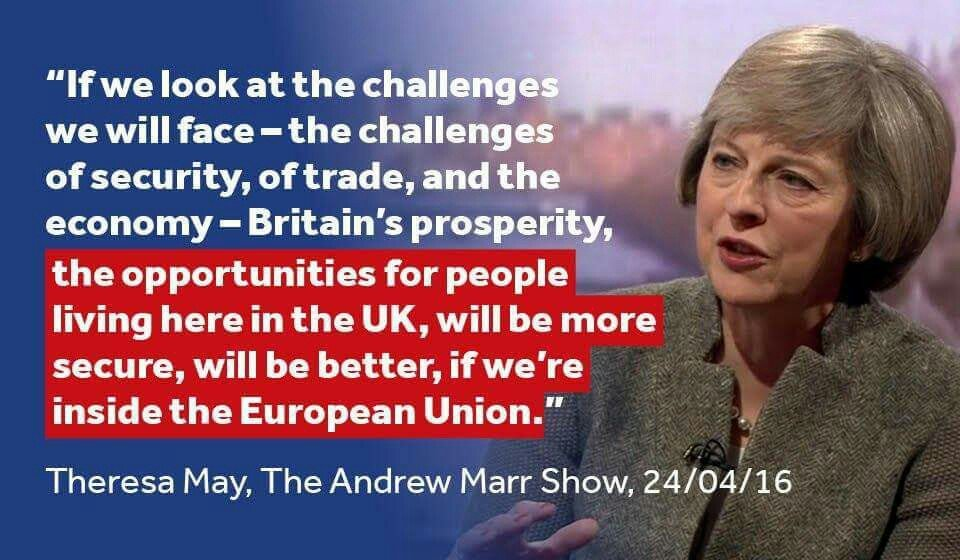 "Theresa May - ""Better off in the European Union"""