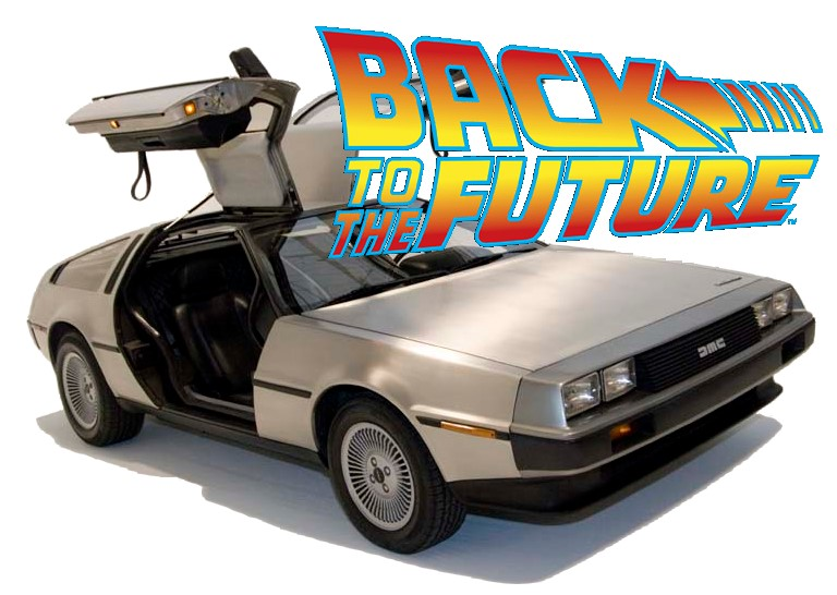 Pin the back to the future car on pinterest