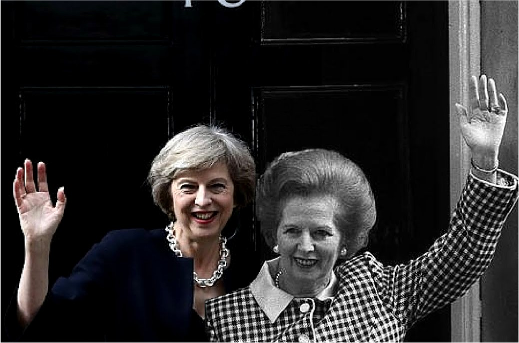 Theresa May Margaret Thatcher Number 10 Composite