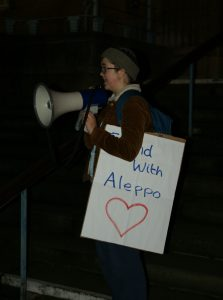 Lotty Clare, Save Aleppo, Norwich demo