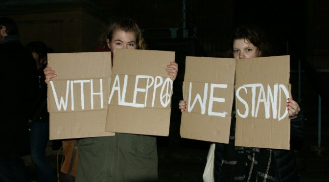 Saving Syria's Aleppo from War Crimes & Humanitarian Crisis, Norwich Rally
