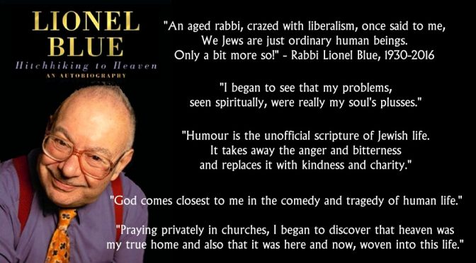 Britain's first openly gay Rabbi Lionel Blue hitchhikes to heaven