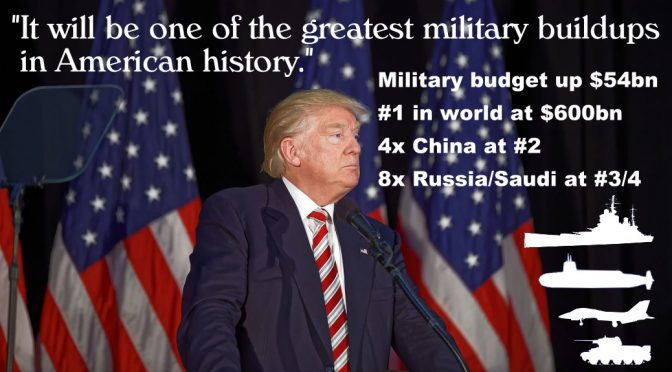 Trump's Military Expansion wins US hearts but won't educate American minds