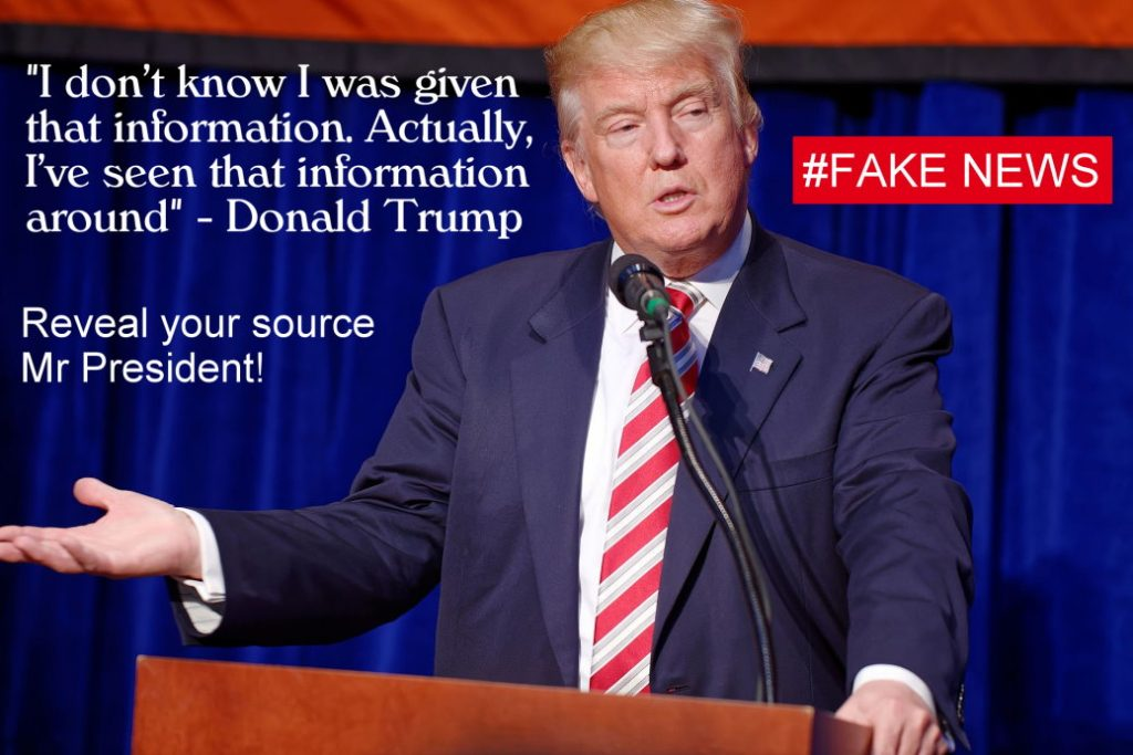 Donald Trump on information sources