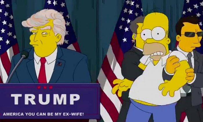 The Simpsons President Donald Trump