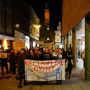 Reclaim the Night March through Norwich, photo by Katy Jon Went