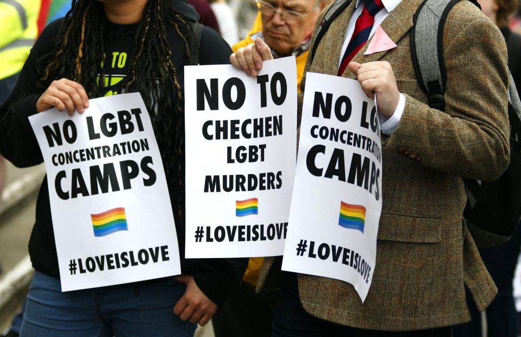 LGBT Concentration Camps Chechnya protest