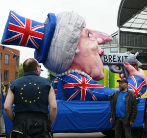 Brexit Suicide Float in Norwich photo by Katy Jon Went