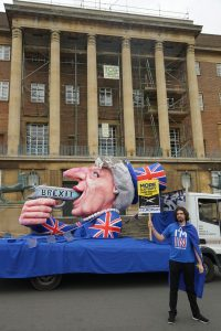 Brexit Suicide Float outside City Hall in Norwich, photo by Katy Jon Went