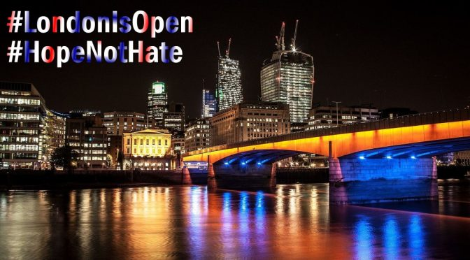 London Bridge is Falling but its people rise in love not hate