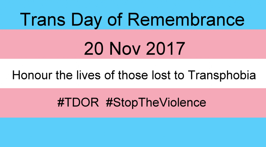 Trans Day of Remembrance 2017