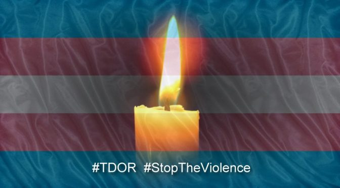 Transgender Pride flag TDOR Stop The Violence
