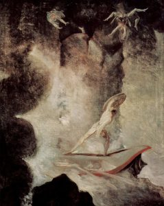 Artist Johann Heinrich Füssli, Henry Fuseli's painting of Odysseus facing the choice between Scylla and Charybdis, 1794-6