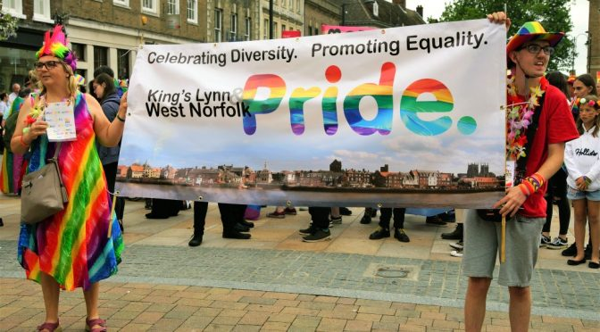 First ever King's Lynn & West Norfolk Pride 2018