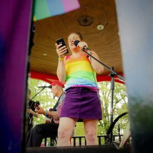 Katy Jon Went speaking at King's Lynn & West Norfolk Pride