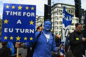 Time for a EU turn on Brexit, Park Lane, London People's Vote meetup before march