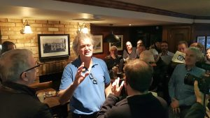 Wetherspoon boss Tim Martin Brexit tour, The Bell Hotel, Norwich