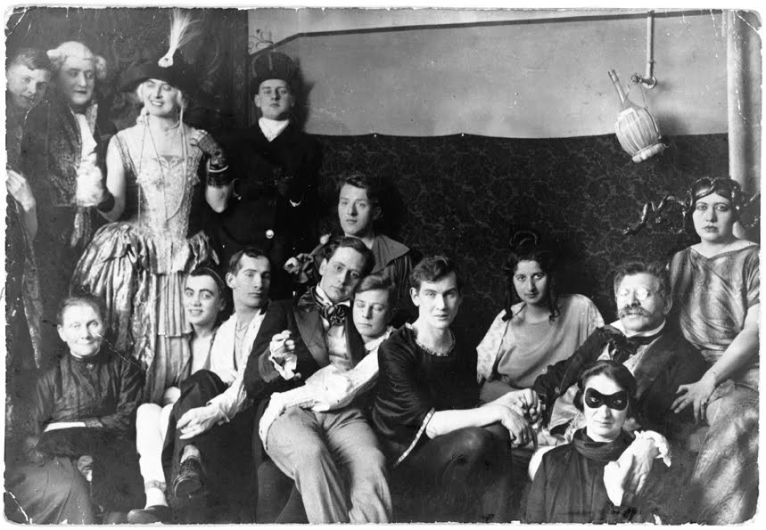 Magnus Hirschfeld at a costume party at the Institute of Sexual Research, 1920