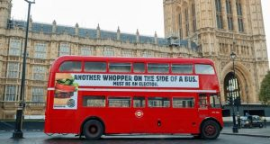 Burger King - Another Whopper on the side of a bus. Must be an election